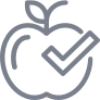 Apple with Checkmark Icon